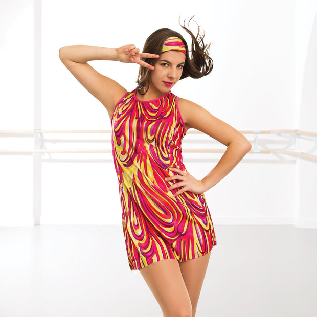 Adult Psychedelic Mini Dress