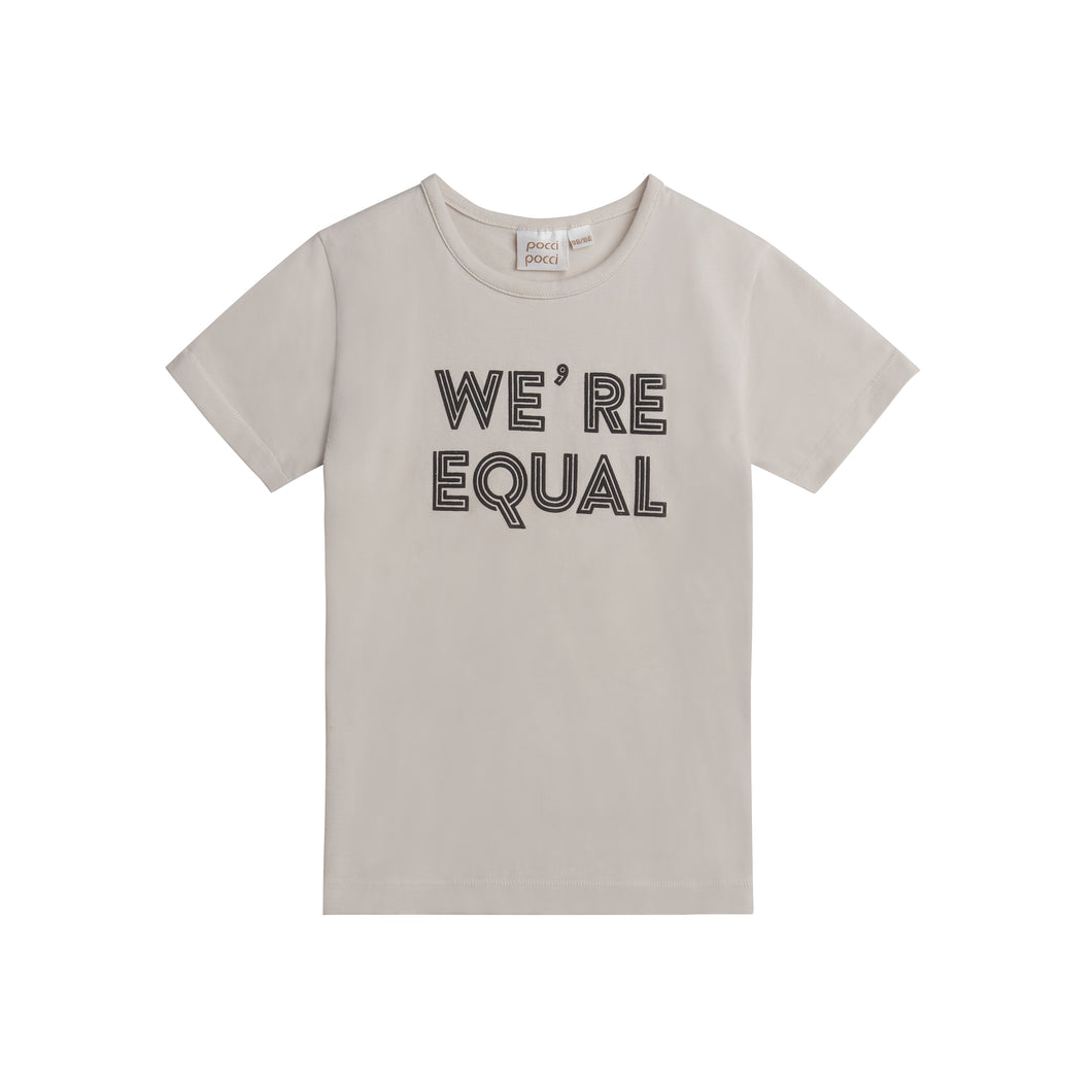 Happy T-shirt, We´re Equal, Sand