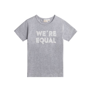 Happy T-shirt, We´re Equal, Grey
