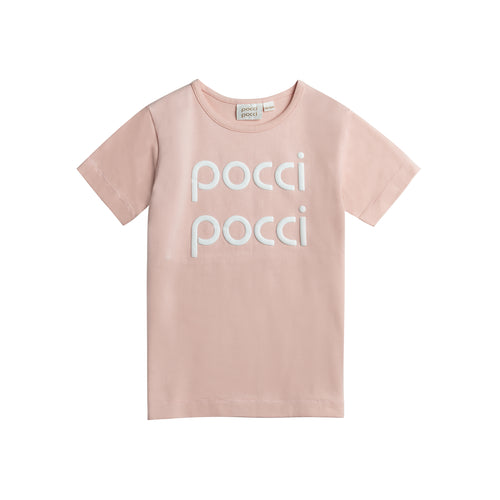 T-shirt Happy Logo Pink