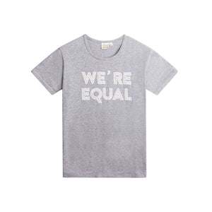 Vuxen, Kvinna, T-shirt, Grå, We´re Equal