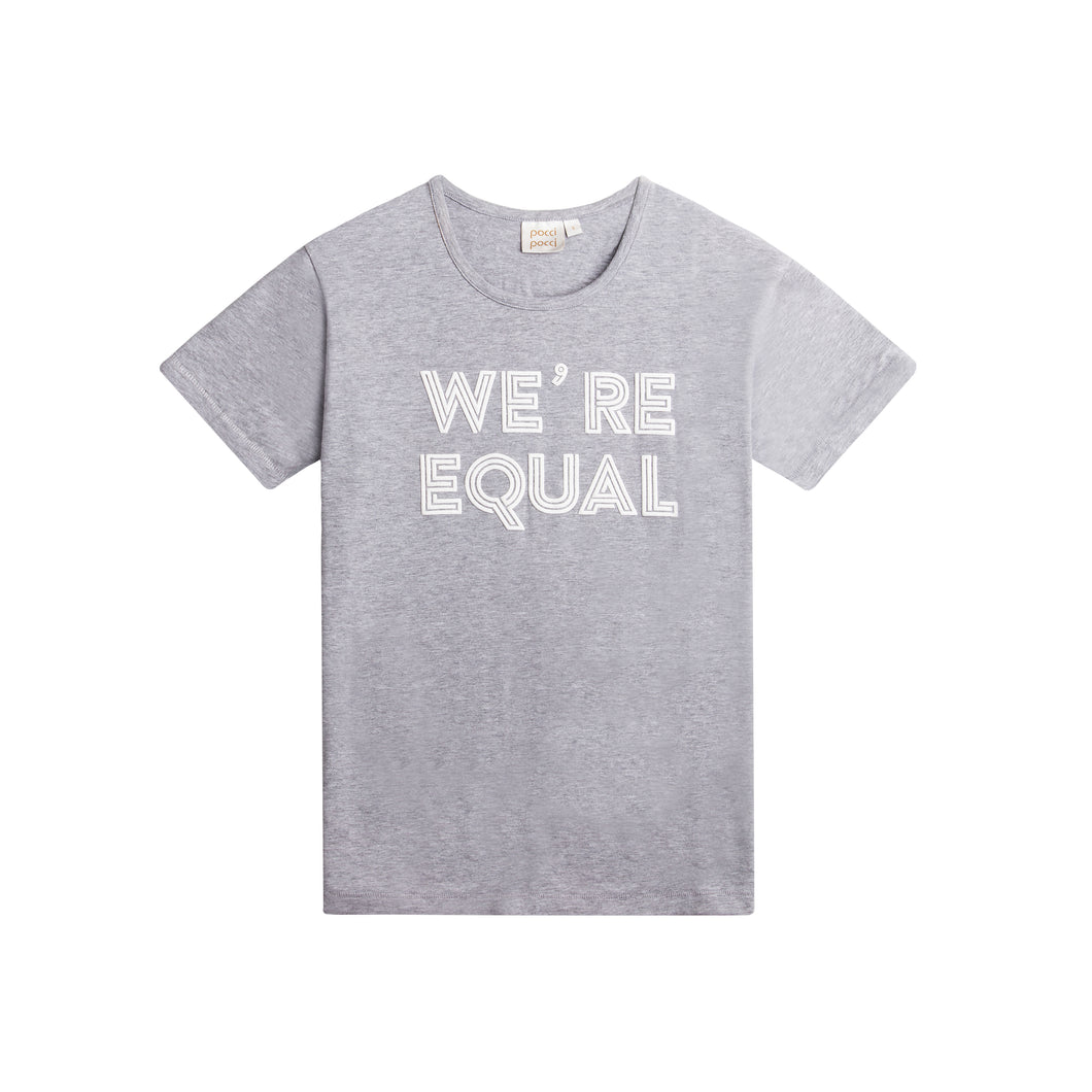 Happy Wmn T-shirt, We´re Equal, Grey