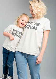 Happy Wmn T-shirt, We´re Equal, Sand