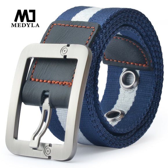 2017 Direct Selling Real Cintos Femininos Cinto Feminino Belts For Men Male Canvas Belt Pin Buckle Lengthen Nylon Knitted Strap - ZepDeals.com