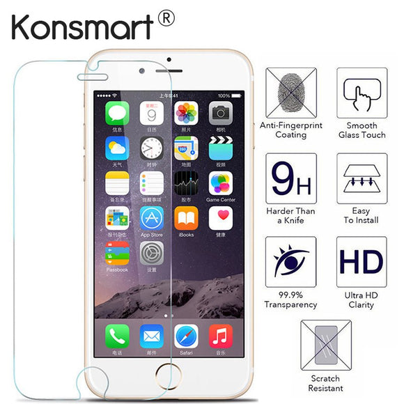 2pcs Screen Protector for iphone 7 Protective glass iphone 6 6s Plus 5s Protect For iphone x screen protector for iphone 8 plus - ZepDeals.com