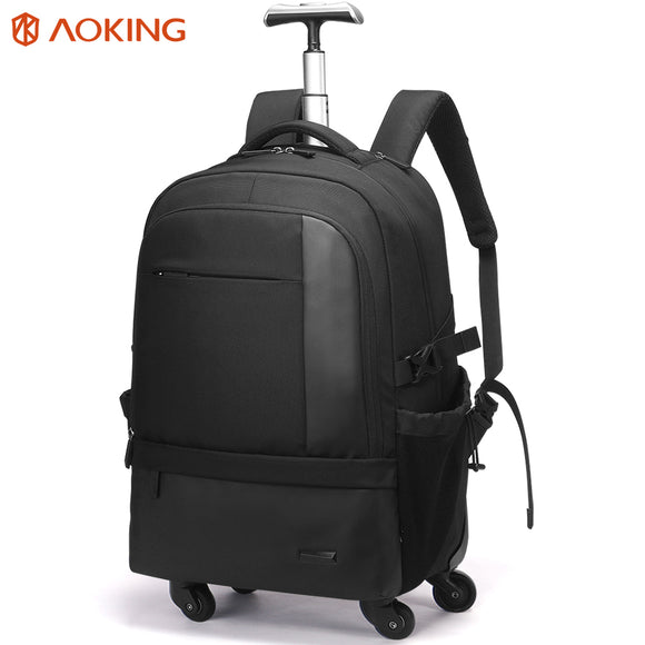 Aoking Large Capacity Trolley Backpack Luggage Waterproof Travel Backpack Multifunctional Carry On Luggage with Laptop pocket - ZepDeals.com