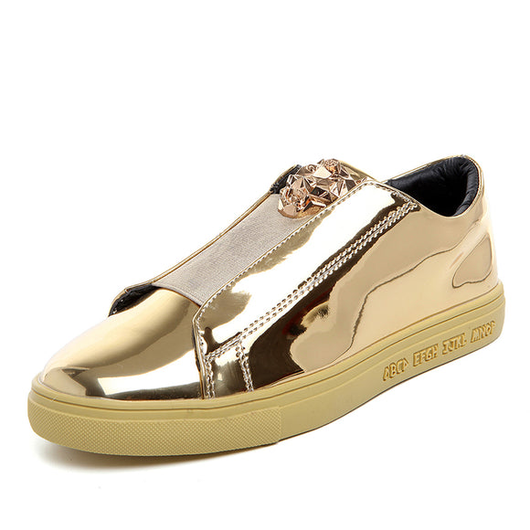 BOLE Men Sequined Casual Shoes Waterproof Rubber Sole Non-slip Casual Sneakers for Men Fashion Shoes Gold Sliver 4colors - ZepDeals.com