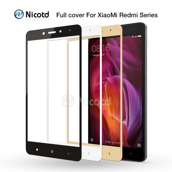 For Redmi 4X Full Cover Tempered Glass For Xiaomi Redmi 4A 3S 3X 4 Note 3 4 pro 4pro note 4x Screen Protector Protective glass