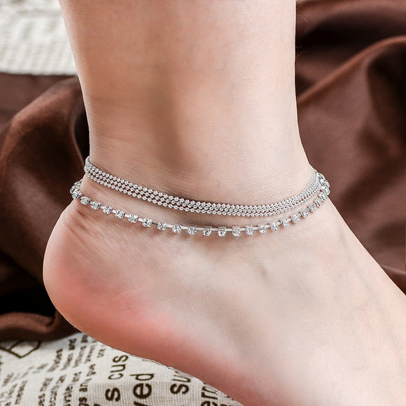1 PC Multi-layer Sexy Crystal Anklet - ZepDeals.com