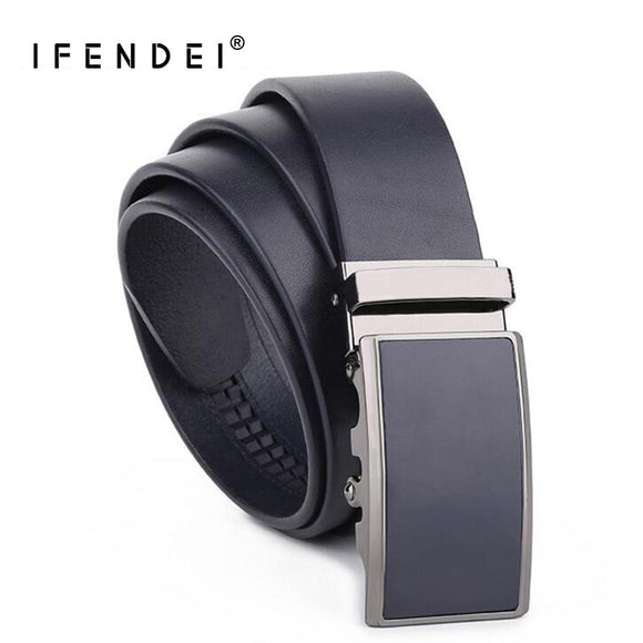IFENDEI Designer Formal Suits Belt Men High Quality Luxury Men's Auto Buckle Business Belts For Wedding Genuine Leather Strap