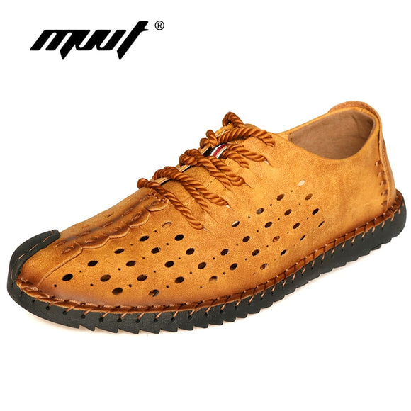 summer shoes handmade soft microfiber casual shoes men footwear