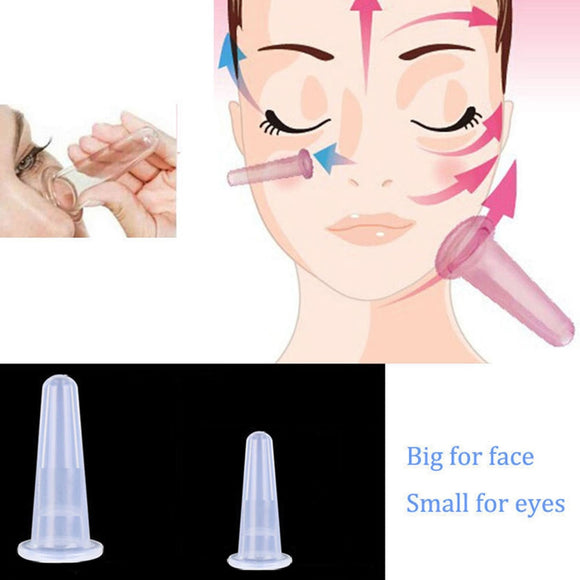 Silicone Facial Eyes Massage Vacuum Cupping Cup Anti Cellulite For Face Neck Back Eyes Massage Cans Suction Massager Health Care
