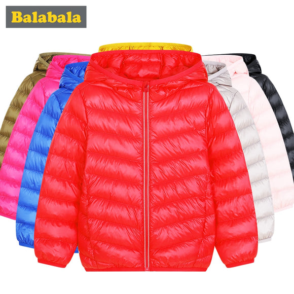 Balabala girls boys clothes Duck Down Jackets children's fashion clothing winter coat clothes jackets for boys kids warm clothes - ZepDeals.com