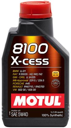 Motul 8100 X-CESS 5w40 Synthetic Engine Oil - 1L
