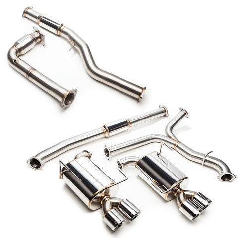 "Cobb Tuning SS 3"" Turboback Exhaust (RESONATED J-PIPE) - 15+ WRX 6MT"