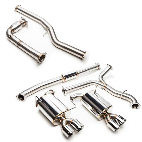 "Cobb Tuning SS 3"" Turboback Exhaust (NON-RESONATED J-PIPE) - 15+WRX CVT"