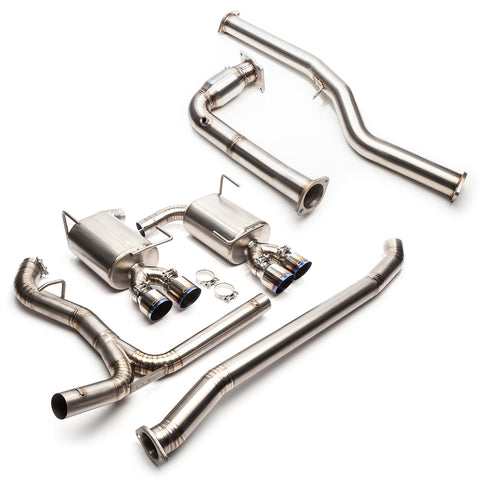 "Cobb Tuning 3"" Turboback Titanium Exhaust -NON-RESONATED J-PIPE (15+WRX 6MT)"