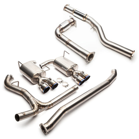 "Cobb Tuning 3"" Turboback Exhaust Titanium (RESONATED J-PIPE) - 15+WRX 6MT"