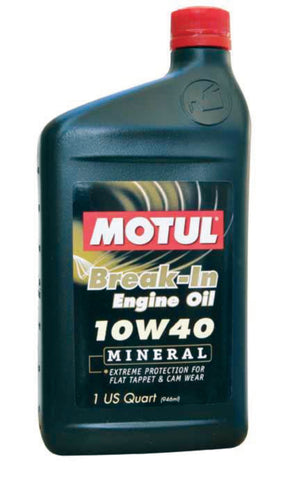 Motul Break-In Mineral Oil 10w40 - 1QT
