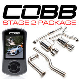 Cobb Tuning Stage 2 Power Package (Non-Resonated J-Pipe) - 15+ WRX 6MT