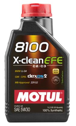 Motul 8100 X-CLEAN EFE 5W30 Synthetic Oil - 1L