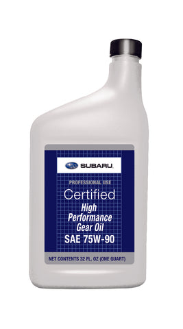 Subaru High Performance Gear Oil 75w90 - 1QT