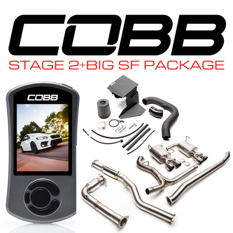 Cobb Tuning Stage 2 + Big SF Power Package Titanium (Resonated J-Pipe) - 15+ WRX 6MT