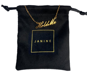 "18K GOLD PLATED ""HOLD ME"" NECKLACE"