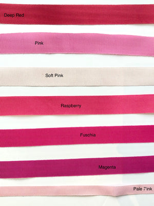 hat ribbons pinks