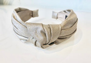 champagne knotted headband