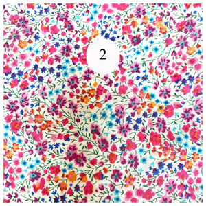 Liberty of London Phoebe print fabric for face covering face mask