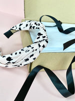 Pink Animal Spot Knot Headband