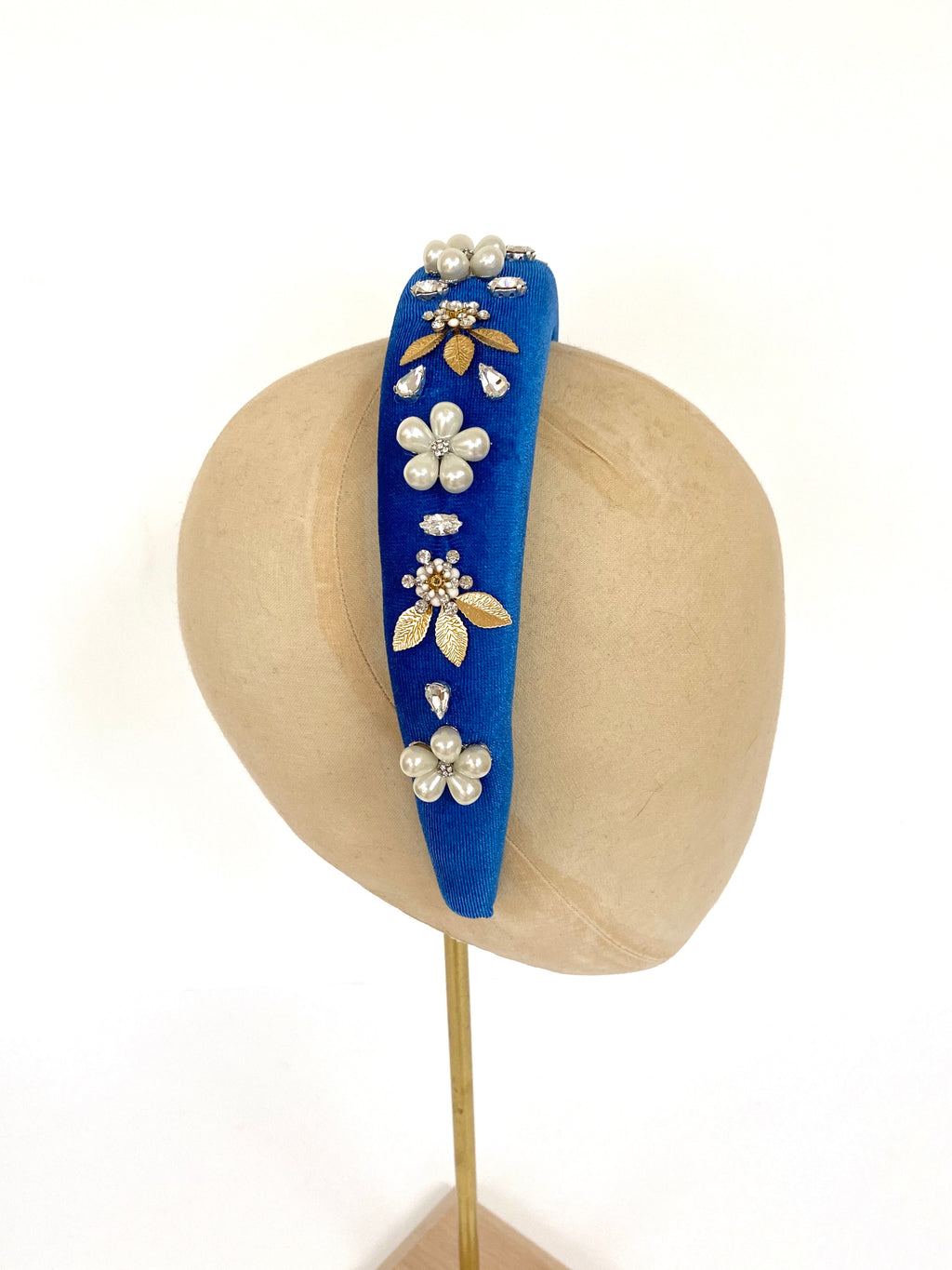 Blue Velvet Baroque Headband