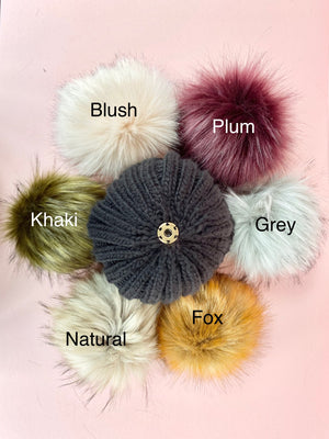 INFANT BEANIE BOBBLE HAT - Various hat colours, custom pom