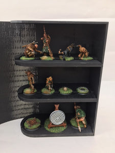 Shadespire/necromunda compatible Miniature storage book with card,dice and tokem add on and customised engraving