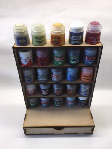 Paint pot unit with drawer - suitable for Citadel paints