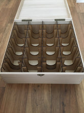 XXL card storage box with token trays and customised engraving