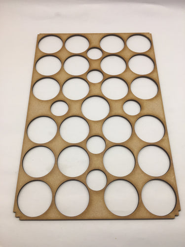 Miniature storage tray 40mm circular insert