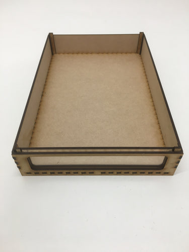 Miniature storage tray with clear acrylic window - 45mm