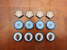 Keyforge compatible matt black acrylic tokens