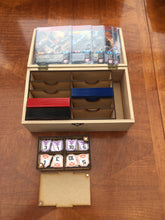 Medium wooden box card deck and token storage with customisable engraving.