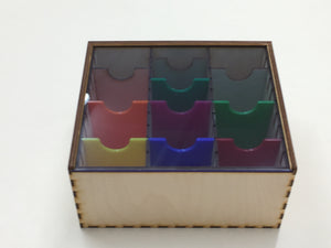 Card collection storage box  with slide top lid
