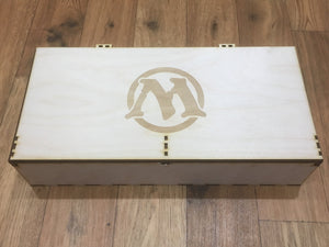 Playmat, card decks and tokens storage box with customisable engraving