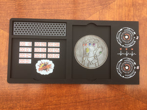 Superhero/villian sci fi dial dashboards compatible with Marvel champions lcg. Full colour printed 3mm acrylic