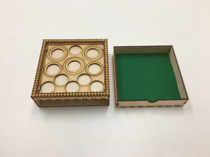 Shadespire/Necromunda Tournament/display tray with felt lined drawer and magnetic sheet