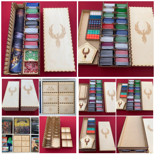 Mini mega card collection box. Kallax cube compatible. Standard cards sleeved/unsleeved