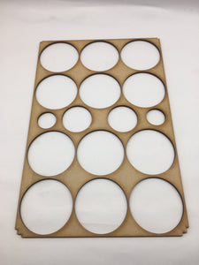 Miniature storage tray 60mm circle insert