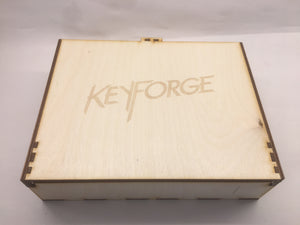Keyforge inspired storage/tournament box  with customised engraving