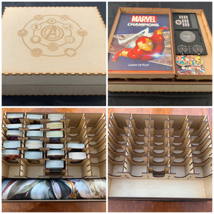 Mega card storage box with customisable engraving - Kallax unit compatible