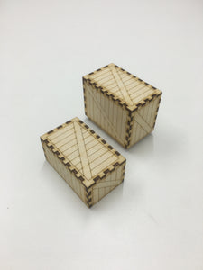 Card deck storage crate